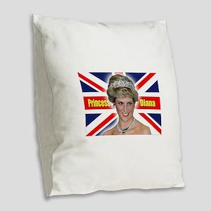 HRH Princess Diana Super! Burlap Throw Pillow