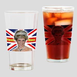 HRH Princess Diana Super! Drinking Glass