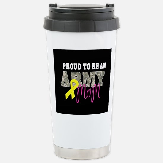 Proud to Be Army Mom Stainless Steel Travel Mug