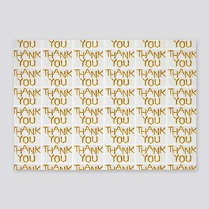 french fries thank you collage 5'x7'Area Rug