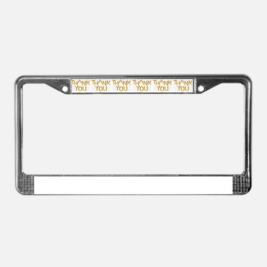 french fries thank you collage License Plate Frame