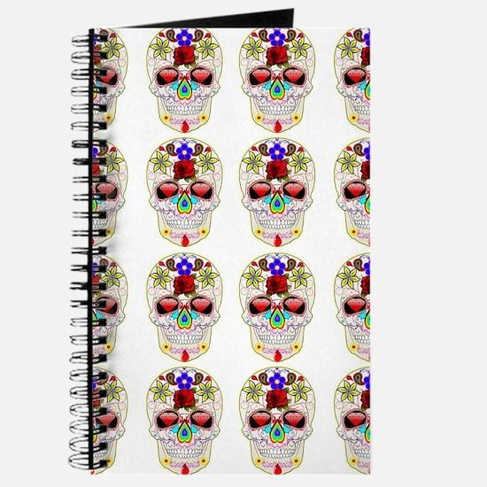 mexican sugar skulls white art Journal