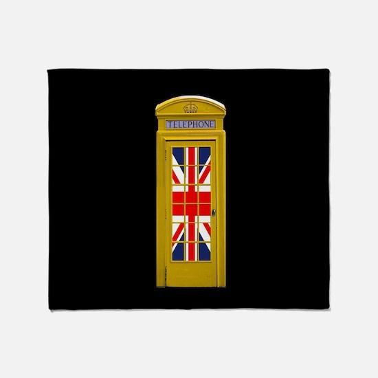 London Telephone Box-Unusual! Throw Blanket