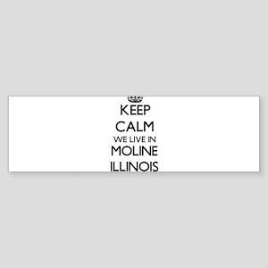 Keep calm we live in Moline Illinoi Bumper Sticker