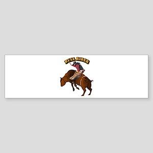 Cowboy - Bull Rider with Text Sticker (Bumper)