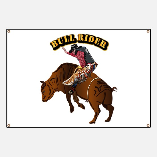 Cowboy - Bull Rider with Text Banner