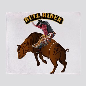 Cowboy - Bull Rider with Text Throw Blanket