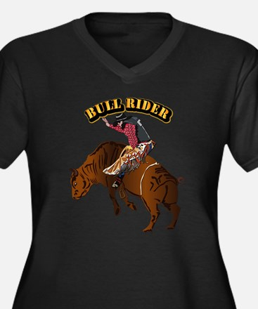 Cowboy - Bul Women's Plus Size V-Neck Dark T-Shirt