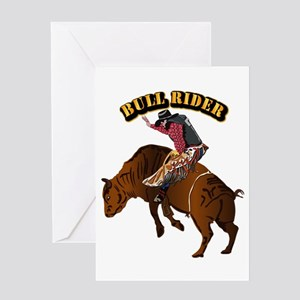 Cowboy - Bull Rider with Text Greeting Card