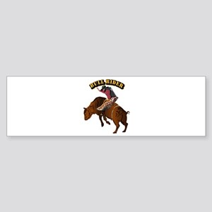 Cowboy - Bull Rider with Text Sticker (Bumper)