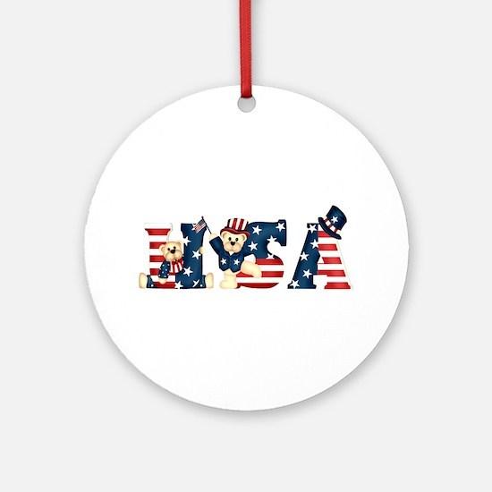 USA BEARS Ornament (Round)