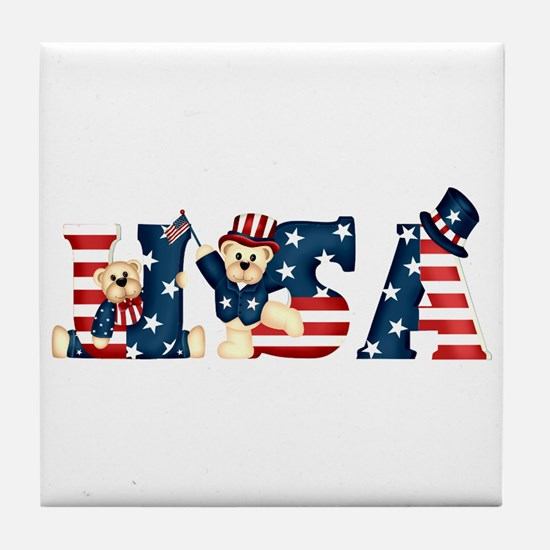 USA BEARS Tile Coaster