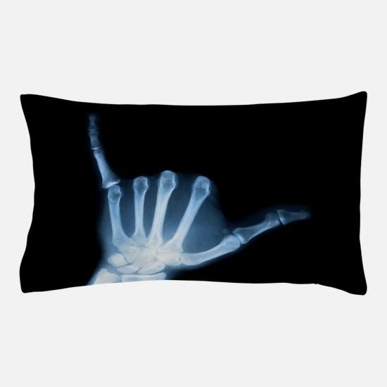 Shaka Hand Sign X-ray ALOHA Pillow Case