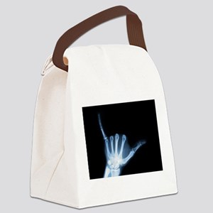 Shaka Hand Sign X-ray ALOHA Canvas Lunch Bag