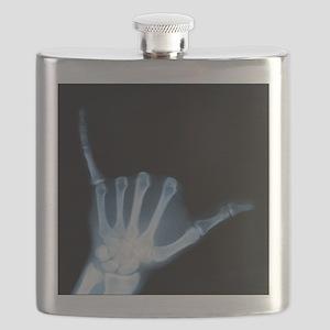 Shaka Hand Sign X-ray ALOHA Flask