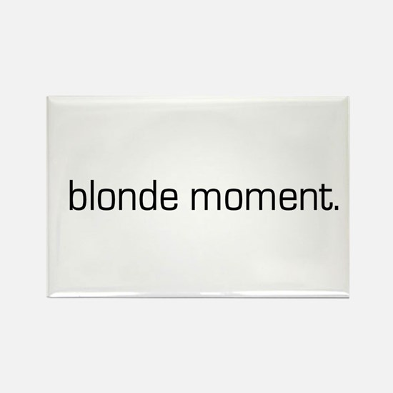 Blonde Moment Rectangle Magnet