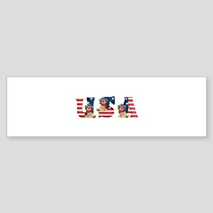 USA DOGS Bumper Sticker