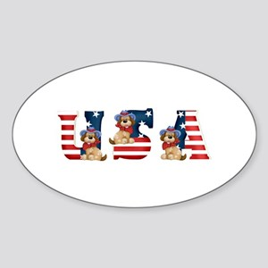 USA DOGS Oval Sticker