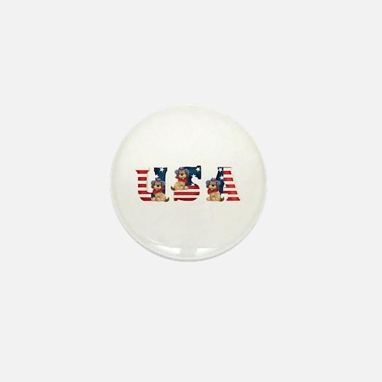 USA DOGS Mini Button
