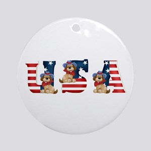 USA DOGS Ornament (Round)