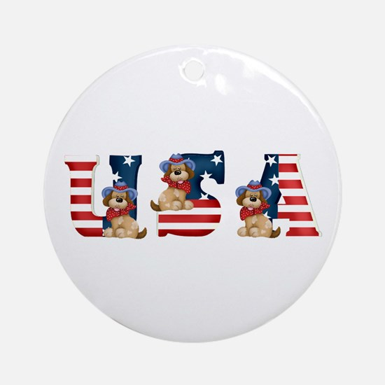 USA DOGS Ornament (Round)