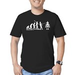 AI Evolution Men's Fitted T-Shirt (dark)