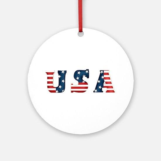 USA Ornament (Round)