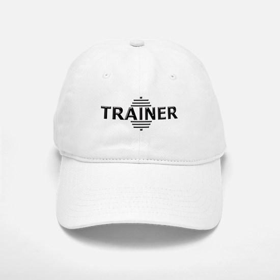 Power Trainer (Embossed Font) Baseball Baseball Cap