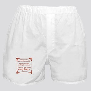 Einstein on Miracles Boxer Shorts
