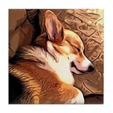 Corgi Tile Coasters
