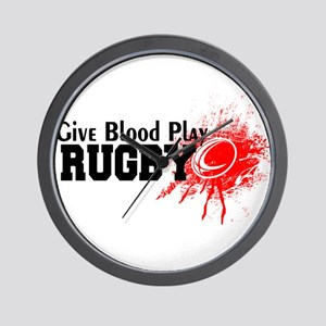 Give Blood Play Rugby Wall Clock