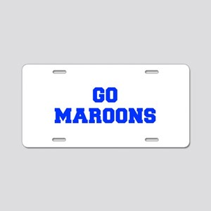 maroons-Fre blue Aluminum License Plate
