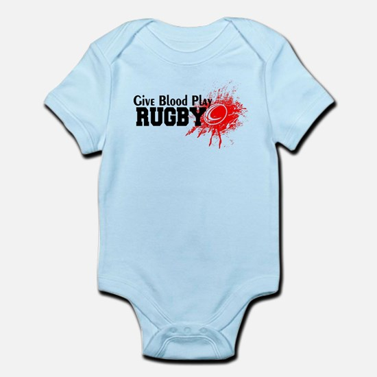 Give Blood Play Rugby Body Suit