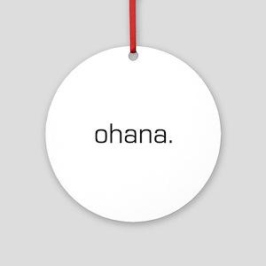 Ohana Ornament (Round)