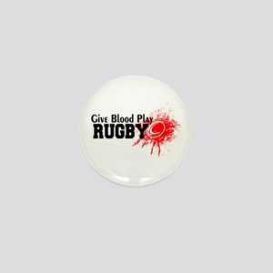 Give Blood Play Rugby Mini Button