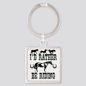 Horse Lover Square Keychain