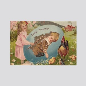 Vintage Easter Victorian Girl & Boy Magnets
