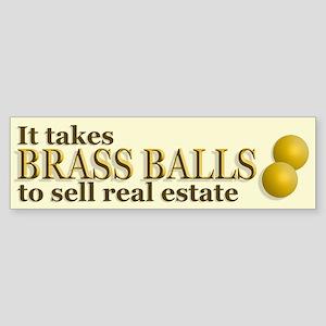 Brass Balls Bumper Sticker
