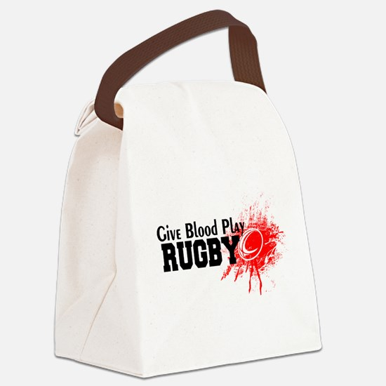 Give Blood Play Rugby Canvas Lunch Bag