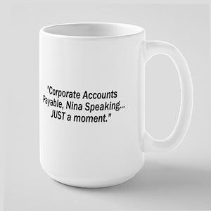 ::: JUST a moment ::: Large Mug