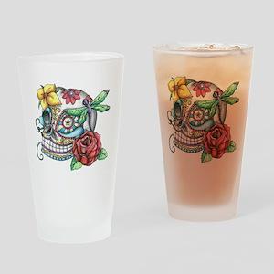 Sugar Skull 069 Drinking Glass