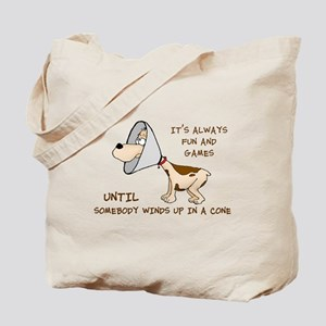 dog cone larry font 2 Tote Bag