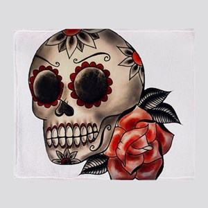 Sugar Skull 034 Throw Blanket