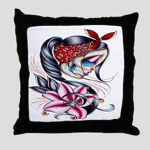 Sugar Skull 025 Throw Pillow