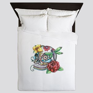 Sugar Skull 069 Queen Duvet