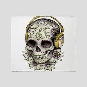 Sugar Skull 008 Throw Blanket