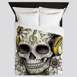 Sugar Skull 008 Queen Duvet