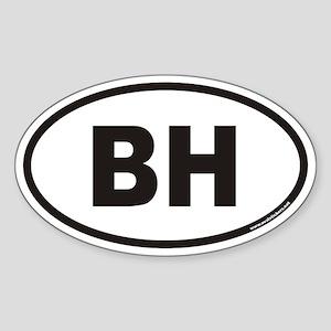 BH Euro Oval Sticker