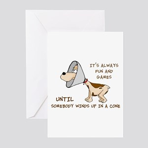dog cone larry font 2 Greeting Cards