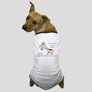 dog cone larry font 2 Dog T-Shirt